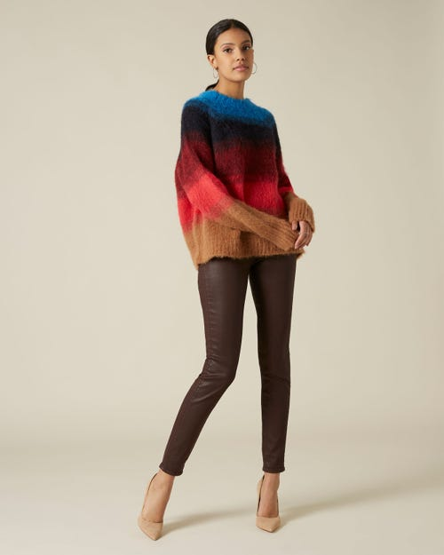 THE SKINNY COATED SLIM ILLUSION MULBERRY