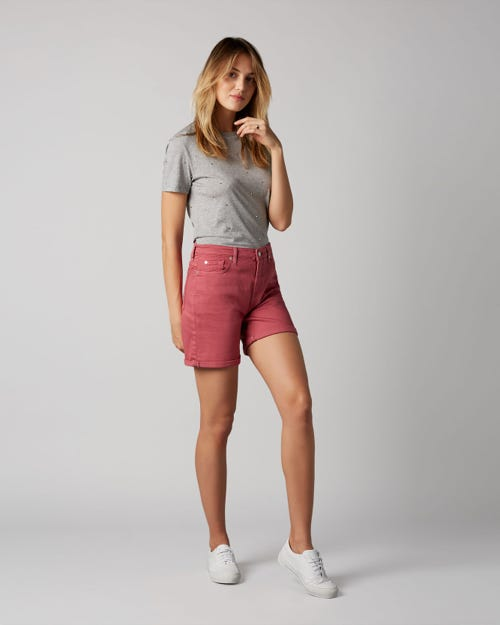 BOY SHORTS COLORED COMFORT STRETCH DUSTY PINK