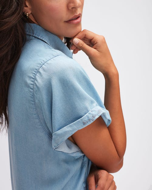 ANETT SHIRT DEL MAR WITH EMBROIDERED MESSAGE