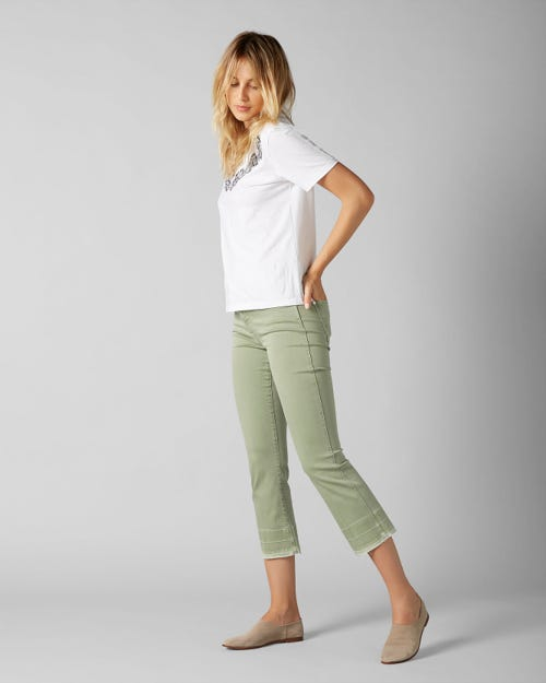 CROPPED BOOT UNROLLED COLORED SLIM ILLUSION JADE