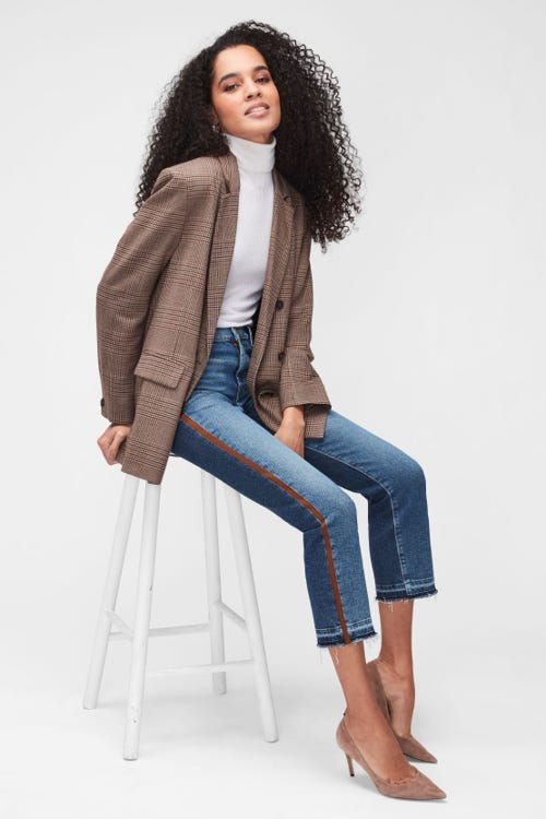 THE STRAIGHT CROP LUXE VINTAGE B-SIDE